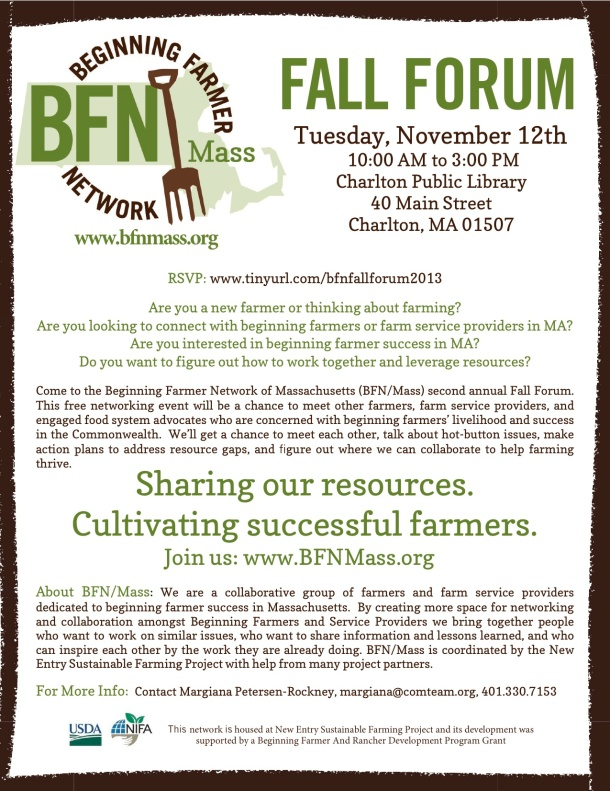 BFNMass Fall Forum flyer 2013