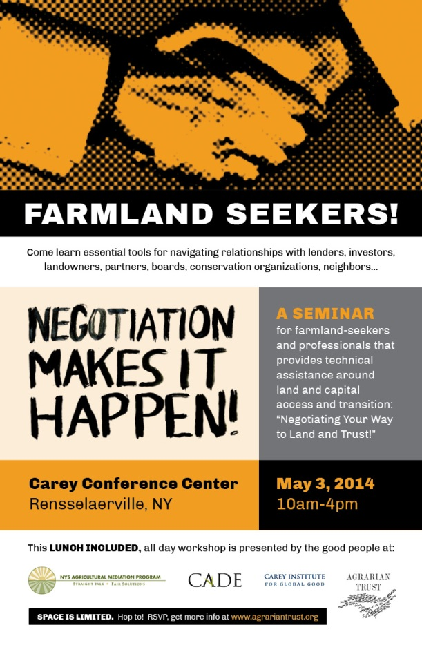 May 3 Negotiation Training Workshop