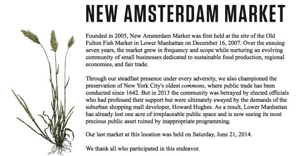 New Amsterdam Market