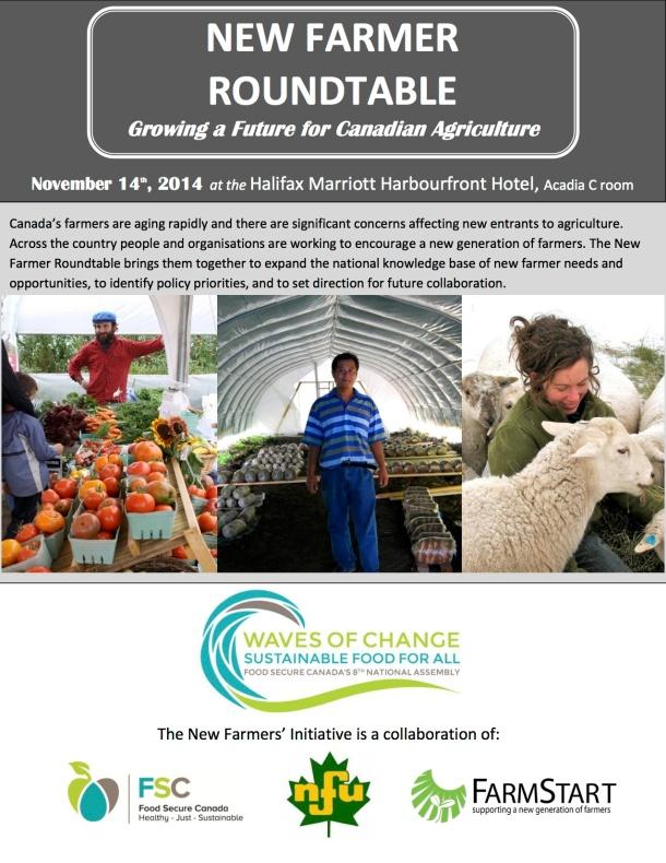 New Farmer Roundtable Nov14 - FSC Assembly FLYER1