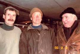 Land for the Temple-Wilton Community farm is held in common by the community through a legal trust. Pictured founding members Lincoln Geiger, Anthony Graham, and Trauger Groh. Photo courtesy of Trauger Groh.