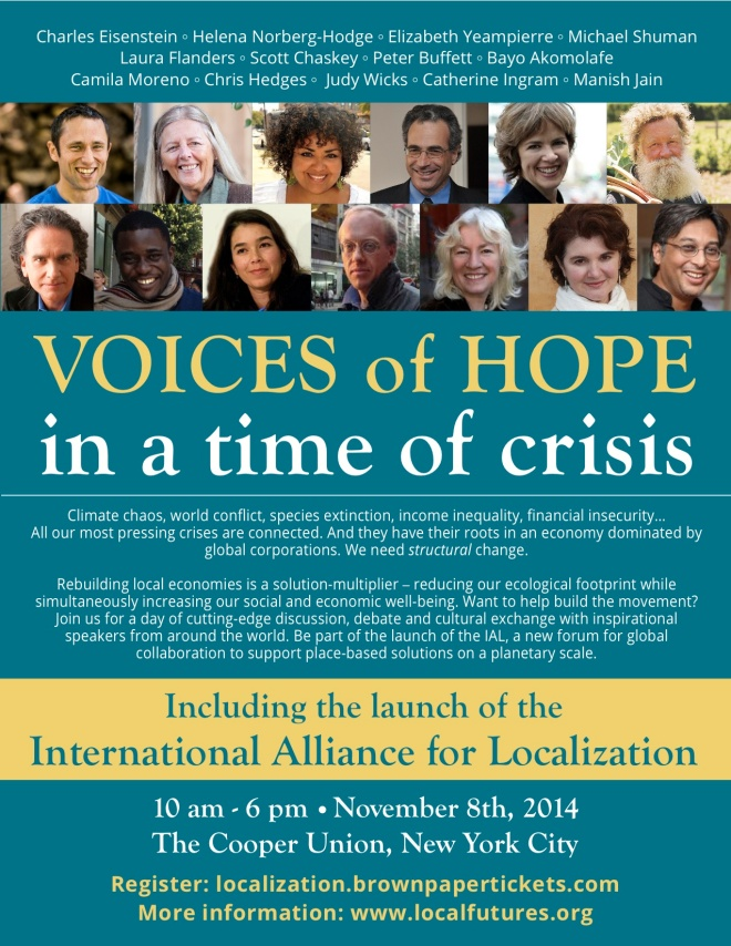 Voices of Hope - Nov 8, NYC