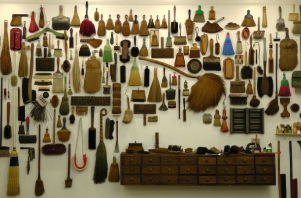 """Brushes, Planets, Misfits and Other Collections"" 2014 by Jeffrey Jenkins"